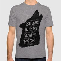 The Pack Survives Mens Fitted Tee Tri-Grey SMALL