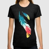 Feather Womens Fitted Tee Tri-Black SMALL