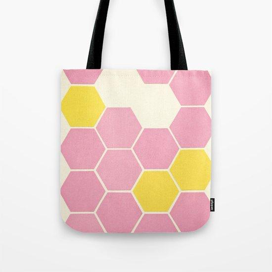 Pink Honeycomb Tote Bag