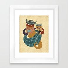The Bearded Men of the Sea Framed Art Print