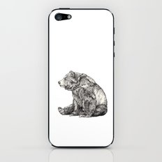 Bear // Graphite iPhone & iPod Skin