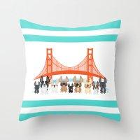 Bay Area Frenchies Throw Pillow