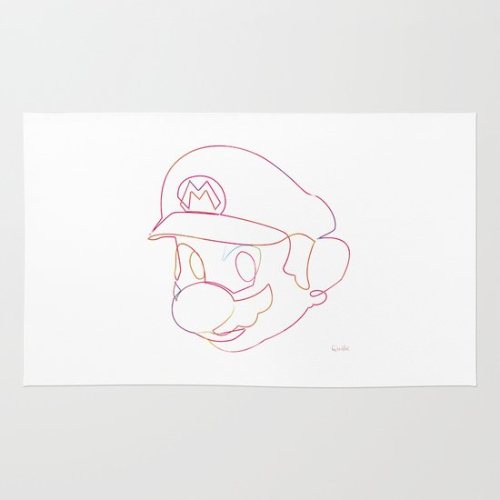 One line Supermario Area & Throw Rug