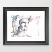 She Saw Three Birds. Framed Art Print