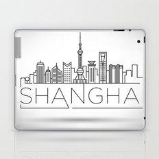 Linear Shanghai Skyline Laptop & iPad Skin