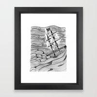 capsized Framed Art Print