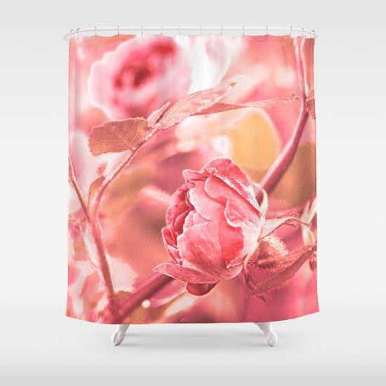 Vintage rose. Shower Curtain