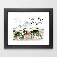 Mt. Hood Framed Art Print