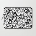 b&w flora pattern Laptop Sleeve