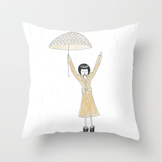 Puddle jumping Throw Pillow