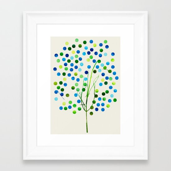 Tree of Life Aqua  by Jacqueline Maldonado & Garima Dhawan Framed Art Print
