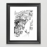 Mesogi Village Centre Framed Art Print