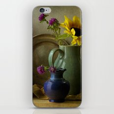 Sunflowers and blue vase iPhone & iPod Skin