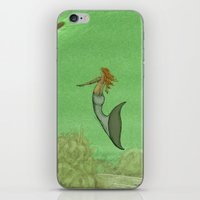 The Golden Mermaid iPhone & iPod Skin
