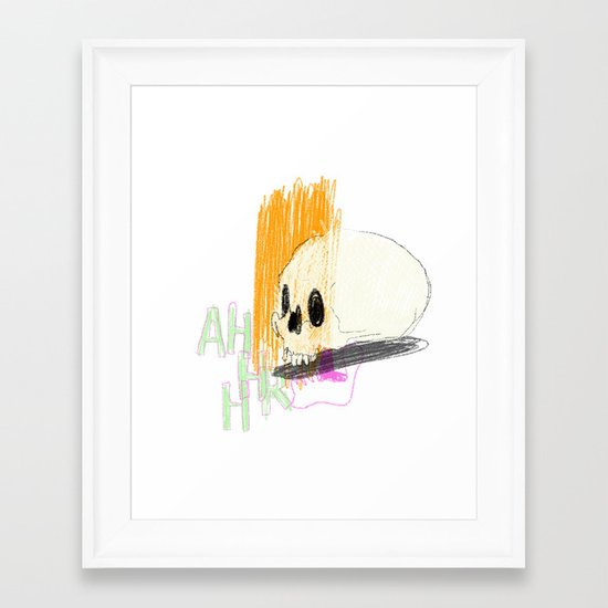 AHHHHHHR IT'S A SKULL (ACTUALLY IT'S JUST THE CRANIUM) Framed Art Print