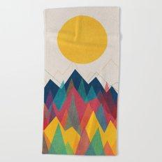Uphill Battle Beach Towel