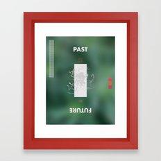 PAST // FUTURE // TENSE Framed Art Print