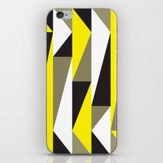Yellow & black triangle pattern iPhone & iPod Skin
