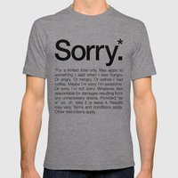 Sorry.* For A Limited Ti… Mens Fitted Tee Tri-Grey SMALL