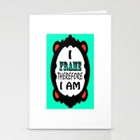 I Frame.... Fancy Stationery Cards