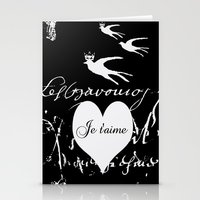 I Love You, Je T'aime Stationery Cards