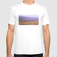 Horse Line Mens Fitted Tee White SMALL