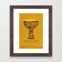 Indiana Jones and the Last Crusade Poster Framed Art Print