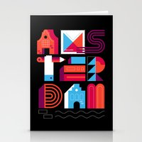 Postcards from Amsterdam / Typography Stationery Cards