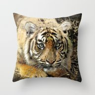 Throw Pillow featuring Tiger20150902 by Jamfoto