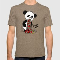 LOVESICK PANDA - Grey Mens Fitted Tee Tri-Coffee SMALL
