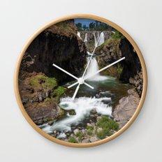 White River Falls Wall Clock