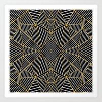 Ab Half Gold Art Print