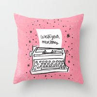 Write your own story. Throw Pillow