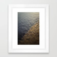 Sandy Sunrise on Beach Framed Art Print