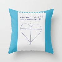 Love Equation Throw Pillow