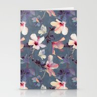 Butterflies And Hibiscus… Stationery Cards