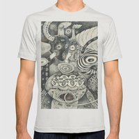 Umbilical Chords Mens Fitted Tee Silver SMALL