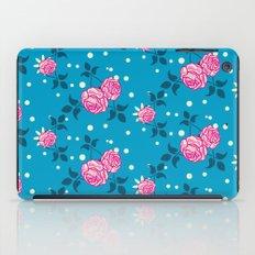 Roses on blue iPad Case