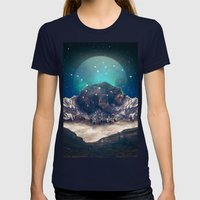 Under the Stars (Ursa Major) Womens Fitted Tee Navy SMALL