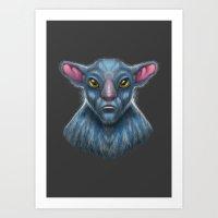 Targ Warrior Art Print