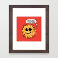 Hot Sun Framed Art Print