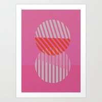 Two Circles Art Print