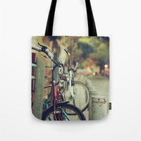 The street is quiet Tote Bag