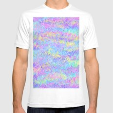 Four Colors White Mens Fitted Tee SMALL