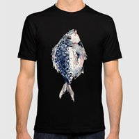 Fairytale Fish Mens Fitted Tee Black SMALL