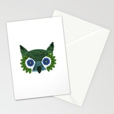So Many Leaves = 1 Owl (Green) Stationery Cards