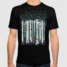 The Birches SMALL Mens Fitted Tee Black
