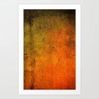 Grungy Eruption Art Print