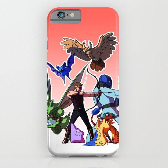 Pokemon Avengers-Clint/Hawkeye iPhone & iPod Case