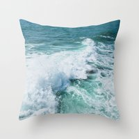 The Wave. Throw Pillow